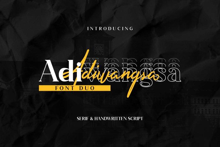 Adiwangsa Font Duo | Serif & Handwritten Script example image 1