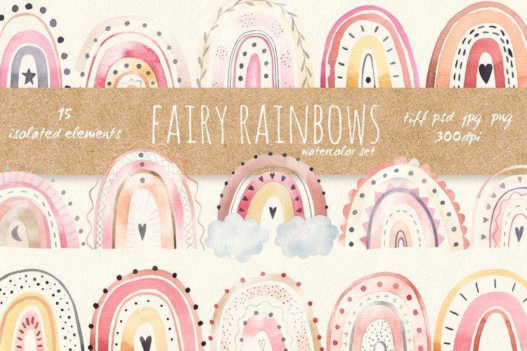 Rainbows baby clipart. Neutral color rainbows clip art png
