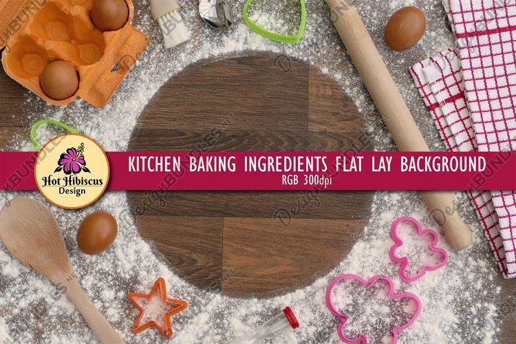 Kitchen Baking Ingredients Flat Lay Background Frame
