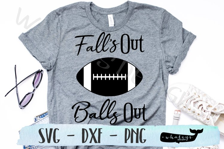 Fall's Out Balls Out, Football, Sports Team SVG example image 1
