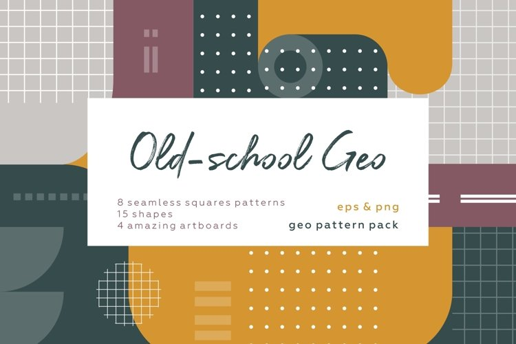 Old school geometry pattern collection example image 1