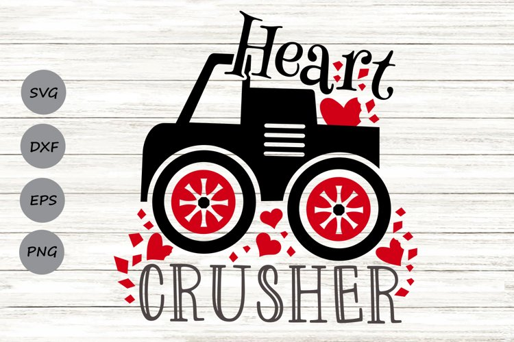 Heart Crusher Svg, Valentine's Day Svg, Boys Valentine Svg. example image 1