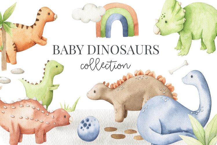 Baby Dinosaur Watercolor Set