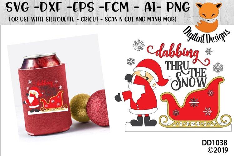 Dabbing Through Thru The Snow Santa Christmas SVG example image 1