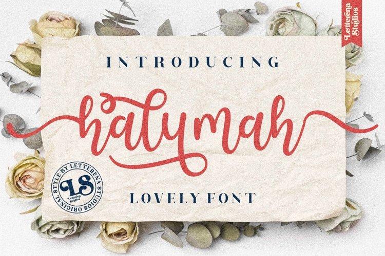 halymah - Beautiful Script Font example image 1