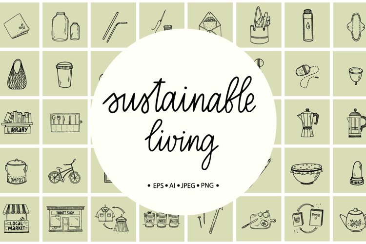 Sustainable Living Doodles