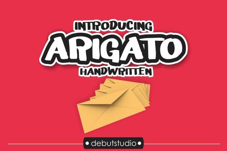 Arigato Handwritten Font example image 1