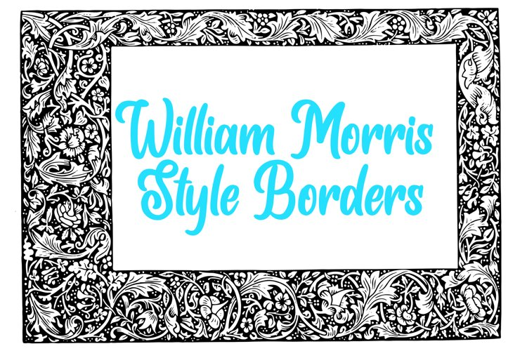 10 William Morris Style Border Lines Illustration Collection example image 1