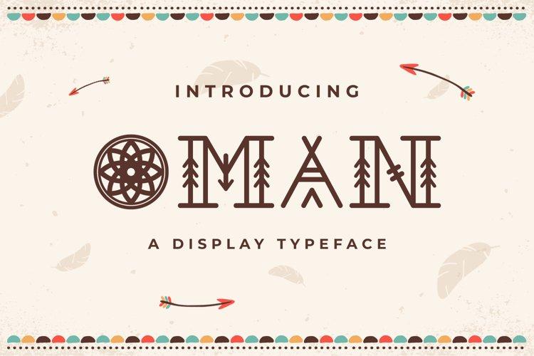 Web Font Oman example image 1