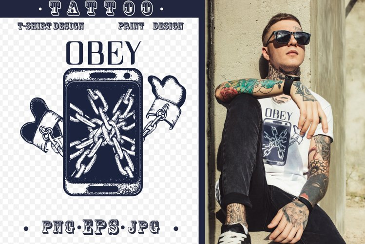Obey tattoo example image 1