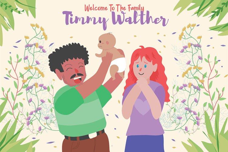 Newborn Baby - Vector Illustration