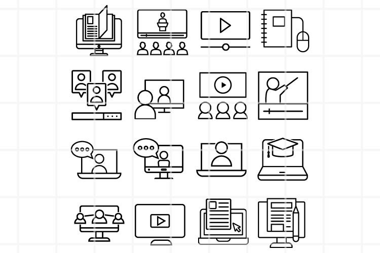 Online icon. Dialog vector files. Conversation symbol.