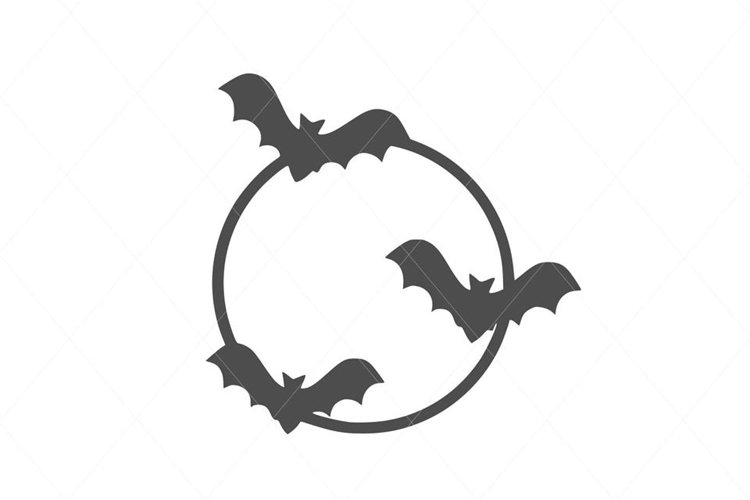 Cute Flying Bats SVG File Clipart Instant Download example image 1