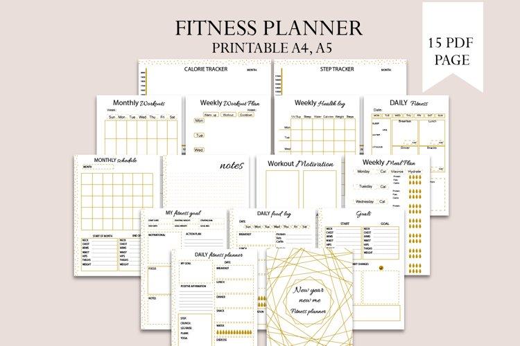 Fitness planner, Goal planner, New year new me planner