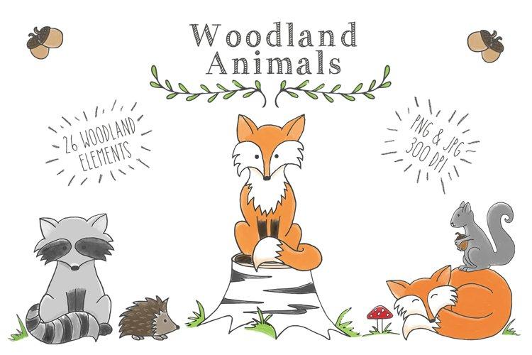 Woodland Animal Clipart Set - Free Design of The Week Font