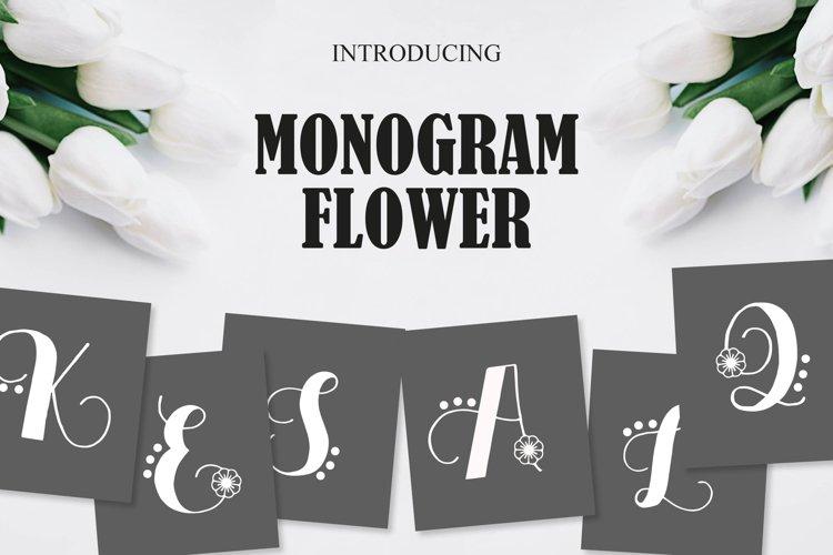 Monogram Flower example image 1