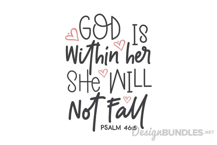 Psalm 46 5 - Free Design of The Week Font