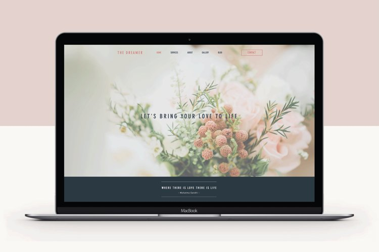 Wix Website Template  The Dreamer example image 1