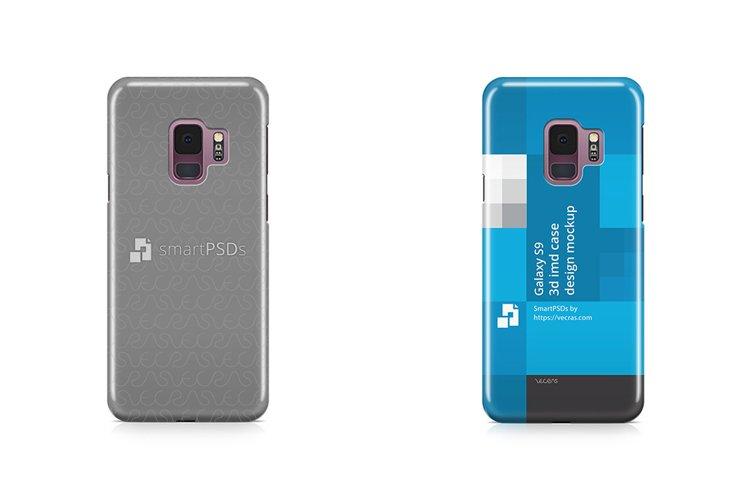 Samsung Galaxy S9 3d IMD Case Design Mockup Back 2018 example image 1