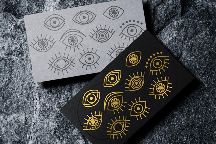Eyes SVG, Eyes Silhouettes, Boho Eyes, Witchy Mystical Eyes
