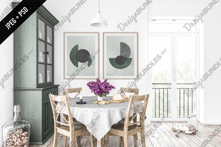 Rural kitchen mockup - frame & canvas mockup creator