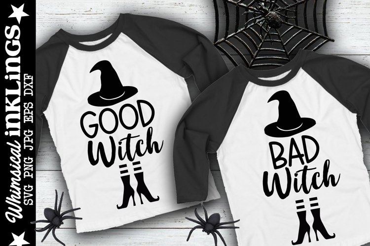 Good Witch Bad Witch-Halloween SVG Set example image 1