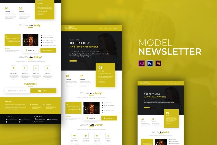 Model | Email Newsletter Template example image 1