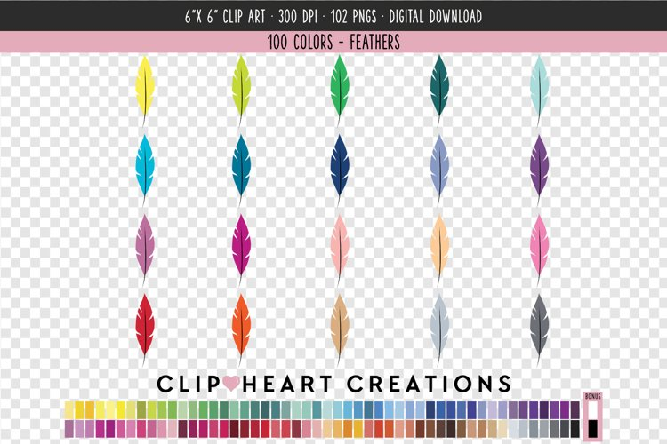 Feathers Clip Art - 100 Clip Art Graphics example image 1