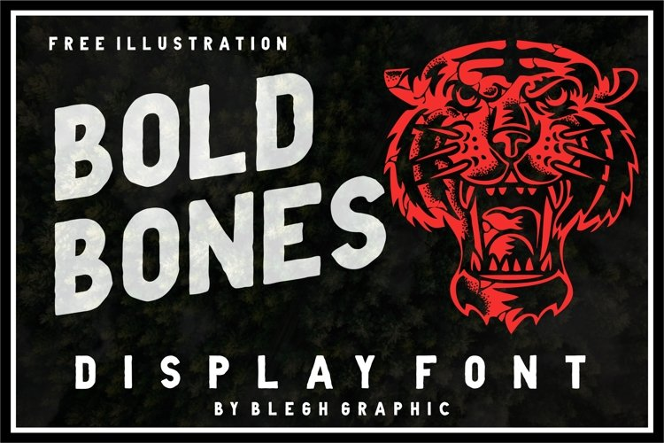BoldBones Display Font example image 1