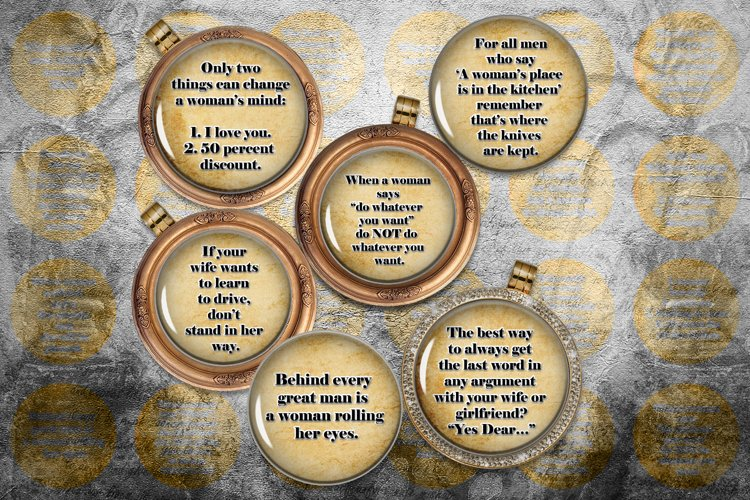 Aphorisms Digital Collage Sheet,Aphorism Woman,Funny Quotes example image 1