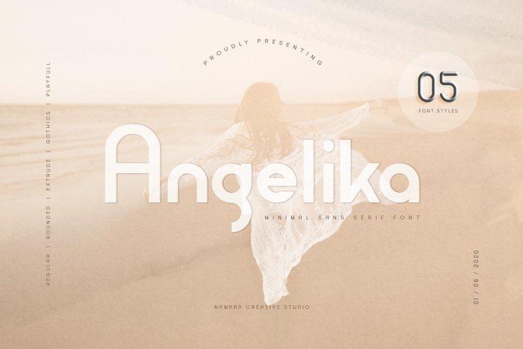 Angelika Family Fonts example image 1