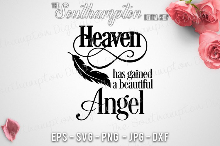 Heaven Has Gained a Beautiful Angel example image 1