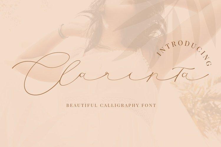 Clarinta - Beautiful Calligraphy example image 1