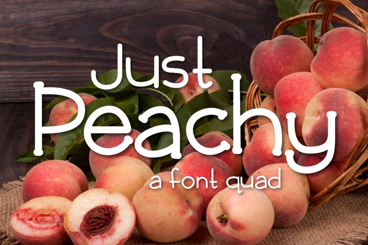 Web Font Just Peachy example image 1