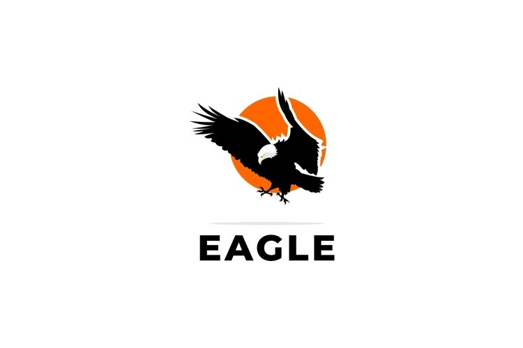 Eagle logo icon vector illustrator example image 1