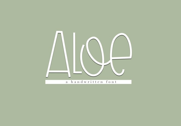 Aloe - A Fun Handwritten Font example image 1