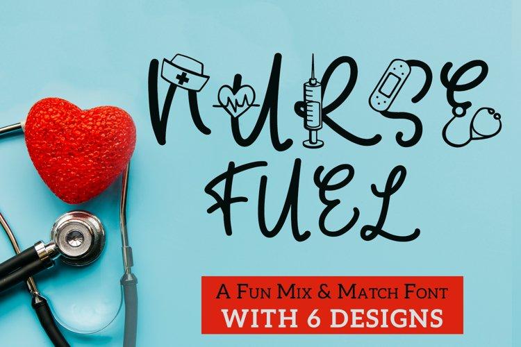 Nurse Fuel Font - Nurse Doodle Font In 6 Designs example image 1