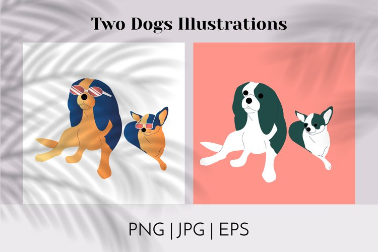 2 Cool Dogs Illustrations Vector and PNG