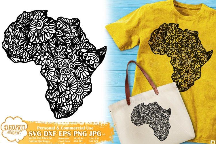 Zentangle Africa | Mandala Africa SVG | Black History Month