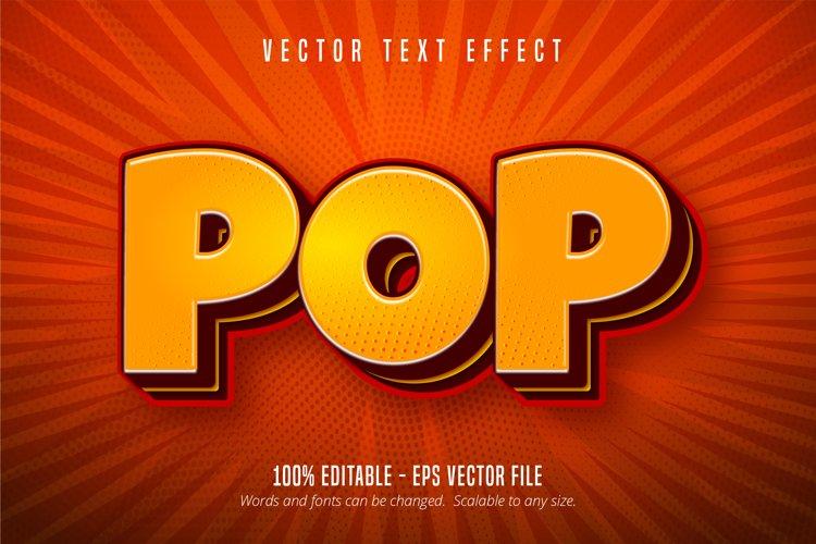 Pop text, pop art style editable text effect example image 1