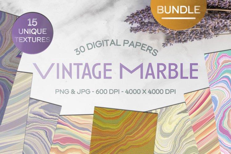 Retro Vintage Marble Digital Paper Bundle Texture Background example image 1
