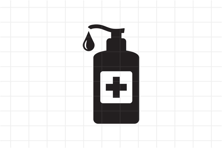 Hand sanitizer icon, SVG, PNG, EPS, AI example image 1