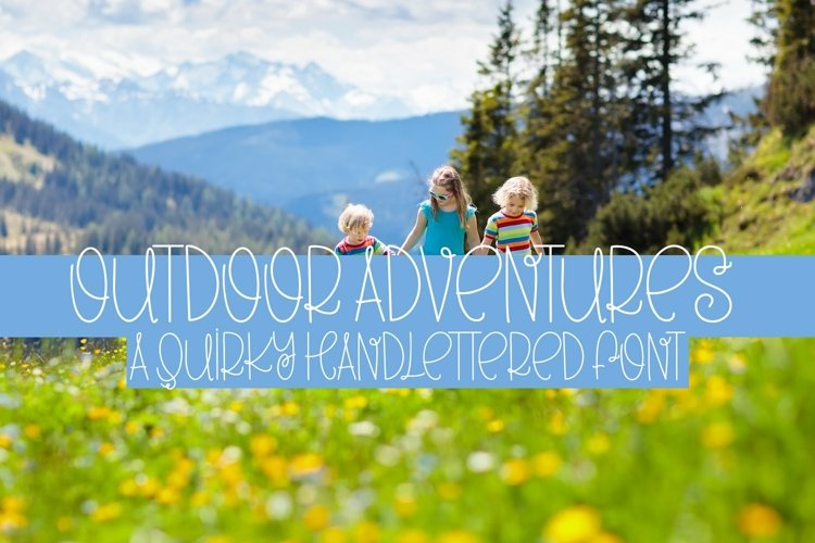 Web Font Outdoor Adventures - A Quirky Hand-Lettered Font example image 1