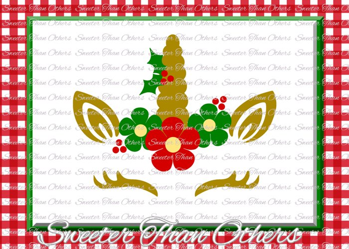 Christmas Svg, Unicorn Svg, Christmas Unicorn svg