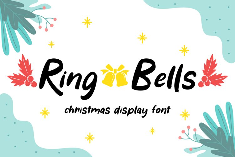 Ring Bells - Christmas Font example image 1