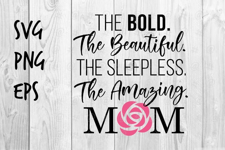 The Amazing Mom SVG design example image 1