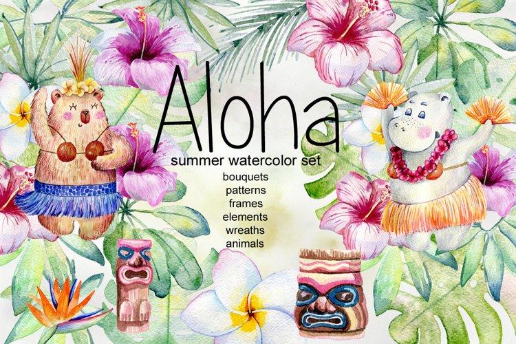 Aloha. Tropical collection. example image 1
