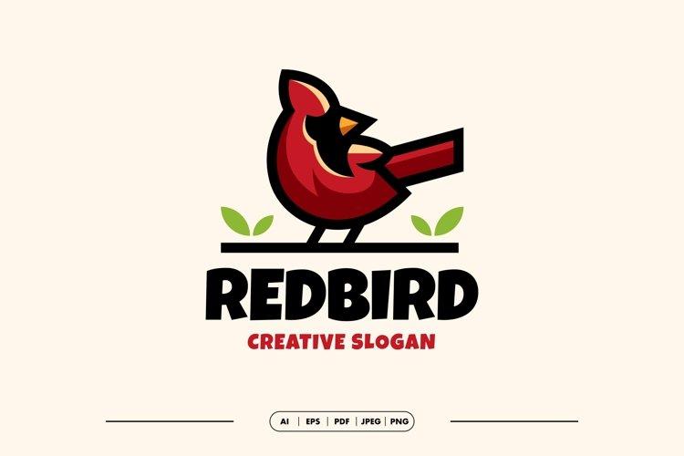 Red Bird Modern Logo Template example image 1