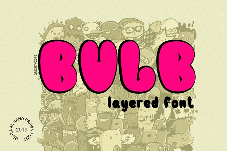 Bulb Layered Font example image 1