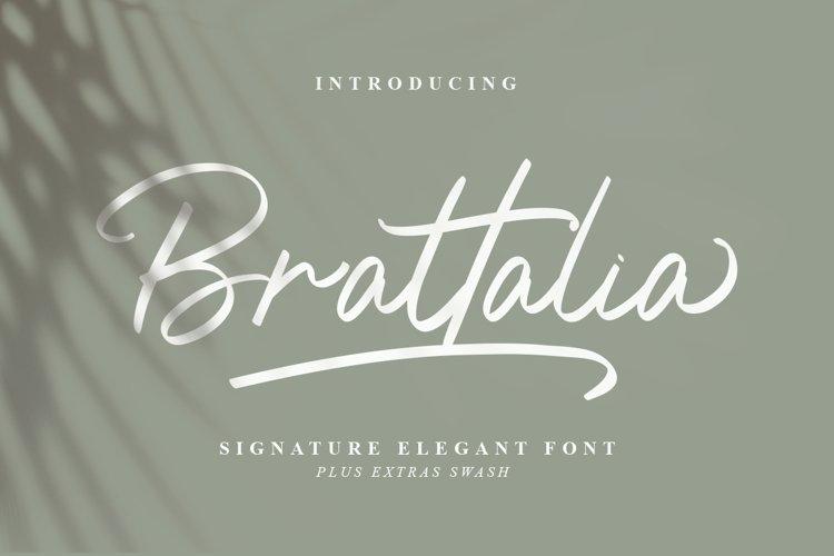 Brattalia Font - EXTRA SWASH